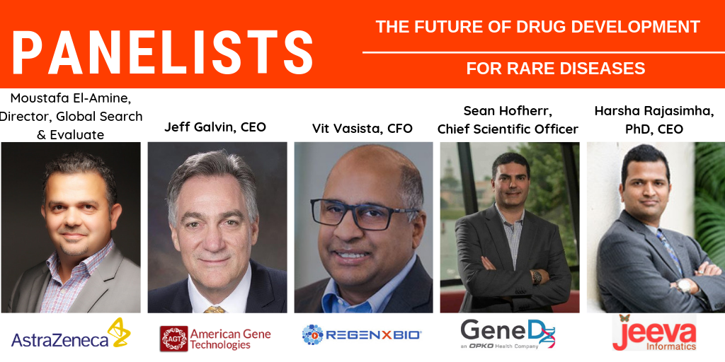 Rare Disease Drug Development Panel with Industry Leaders from AstraZeneca, REGENXBIO, American Gene Technologies, GeneDx and Jeeva