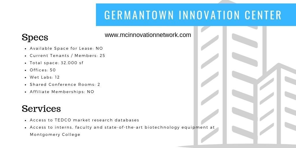 Germantown Innovation Center (GIC) located at the Pinkney Innovation Complex on Montgomery College's campus