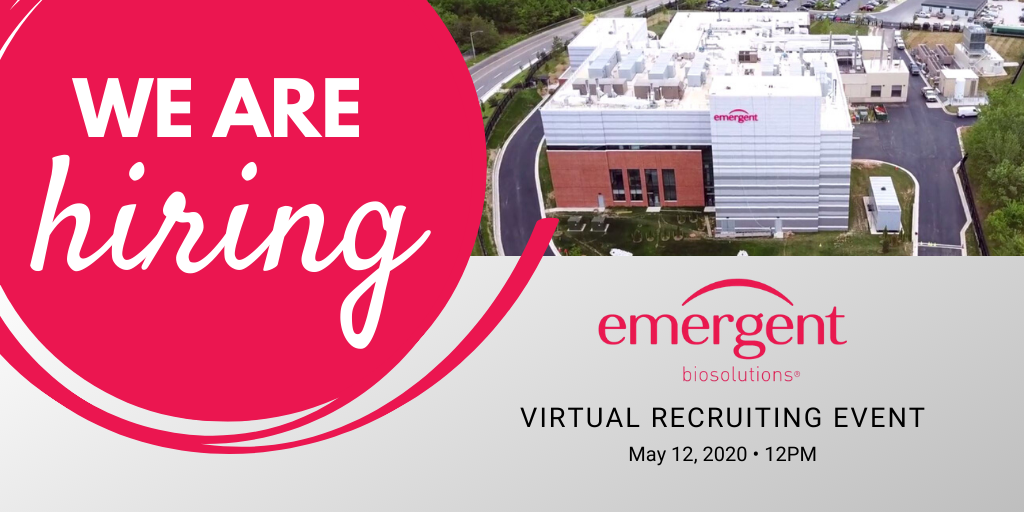 Emergent BioSolutions: Virtual BioManufacturing Recruiting Event