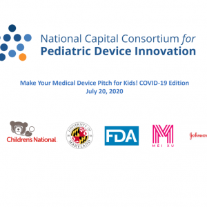 National Capital Consortium for Pediatric Device Innovation (NCC-PDI) Announces Virtual Pediatric Pitch Competition Winners