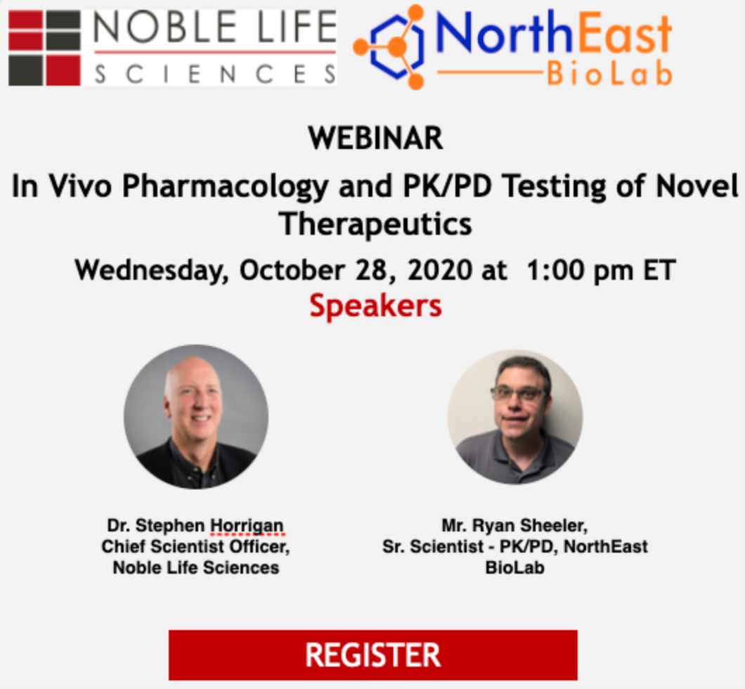 In Vivo Pharmacology and PK/PD Testing of Novel Therapeutics