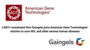LGBT+ investment firm Gaingels joins American Gene Technologies' mission to cure HIV, and other serious human diseases
