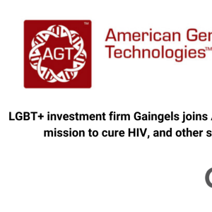 LGBT+ investment firm Gaingels joins American Gene Technologies